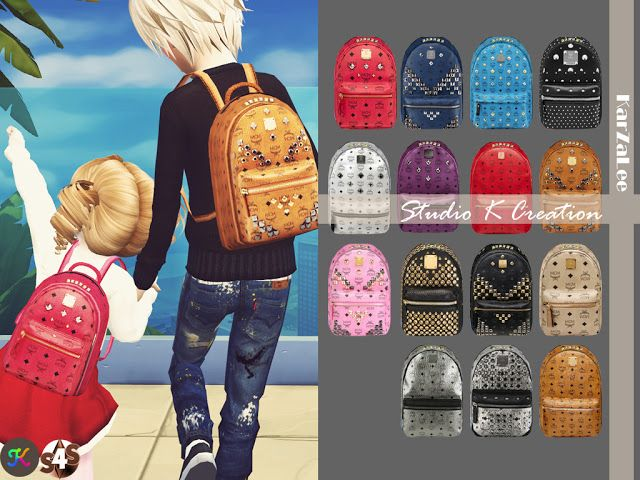 Sims 4 Cc S The Best Backpack For Kids Version By