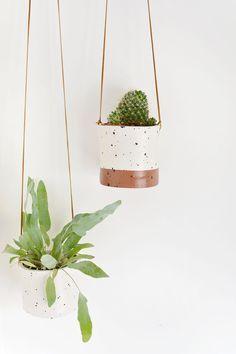 DIY   faux ceramic hanging planters