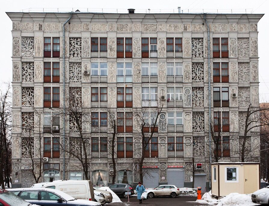 Pre Fab Concrete Apartment Building By Andrei Burov Moscow 1930s Photo Addison El On Flickr