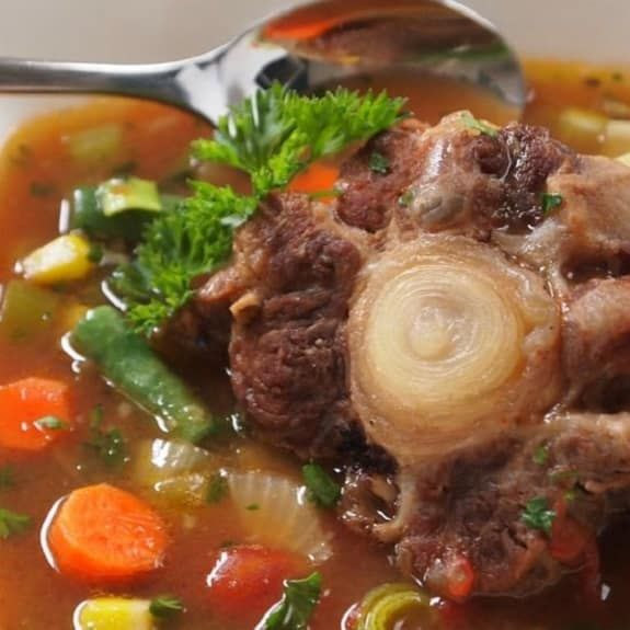 Homemade Vegetable Minestrone Soup Recipe Oxtail Soup Oxtail