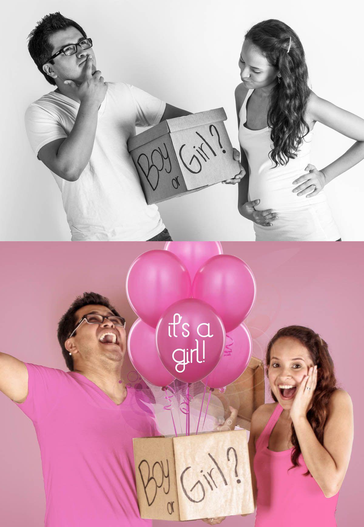 gender reveal announcement. IT\'S A GIRL | Prego pics | Pinterest ...