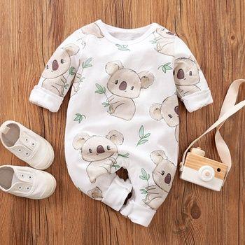 Photo of Baby Boy / Girl Giraffe Pocket Design Jumpsuit