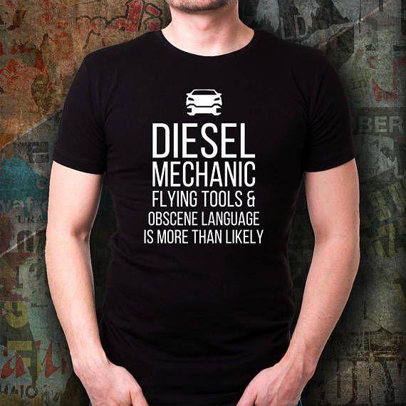 f599ec93 Diesel Mechanic t shirt. Cute and funny gift idea t-shirt   Diesel ...