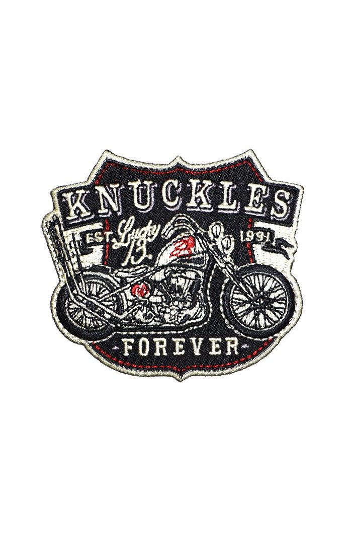 a24ab3b100a30 The Knuckles patch is a full embroidered patch