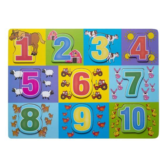 ELIITI Wooden Puzzles with Numbers for Toddlers Kids 2 to ...