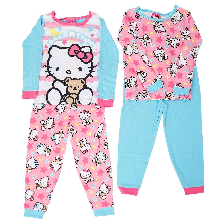 b7c12389a3d8 Hello Kitty 4-Piece Cotton Pajama Set