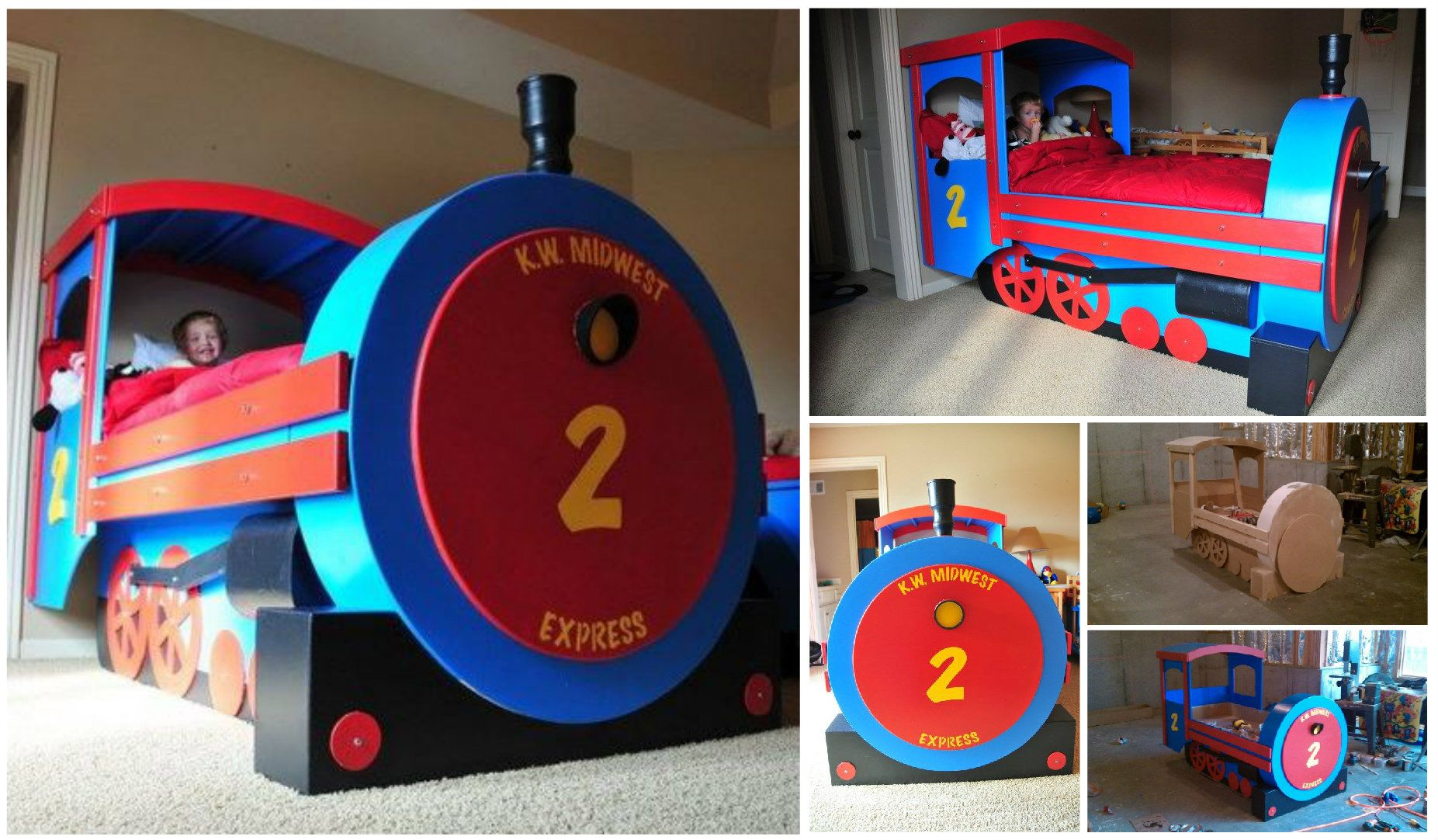 Train Bed DIY Easy Tutorial Plus Plans Thomas Train Bed | Train bed ...
