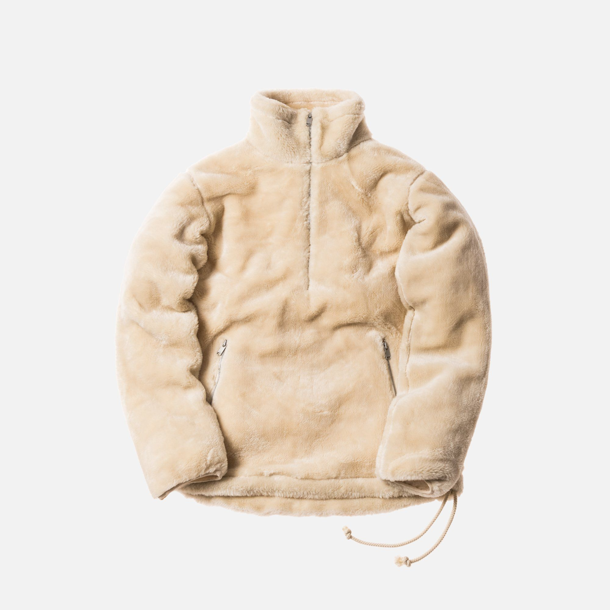 778c0304 Kith x nonnative Sherpa Quarter-Zip - Natural | Cool guys clothes in ...