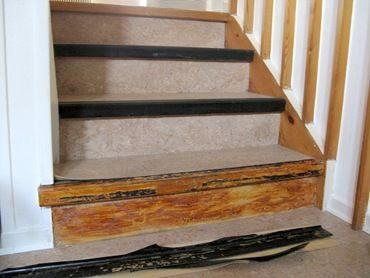 Removing Linoleum Stair Treads Linoleum Flooring Stairs Diy Stairs