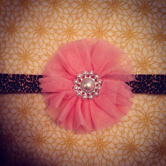 very cute diy headband -make with tulle and a gem --they even have blank  headbands   walmart now! 6ba08adb966