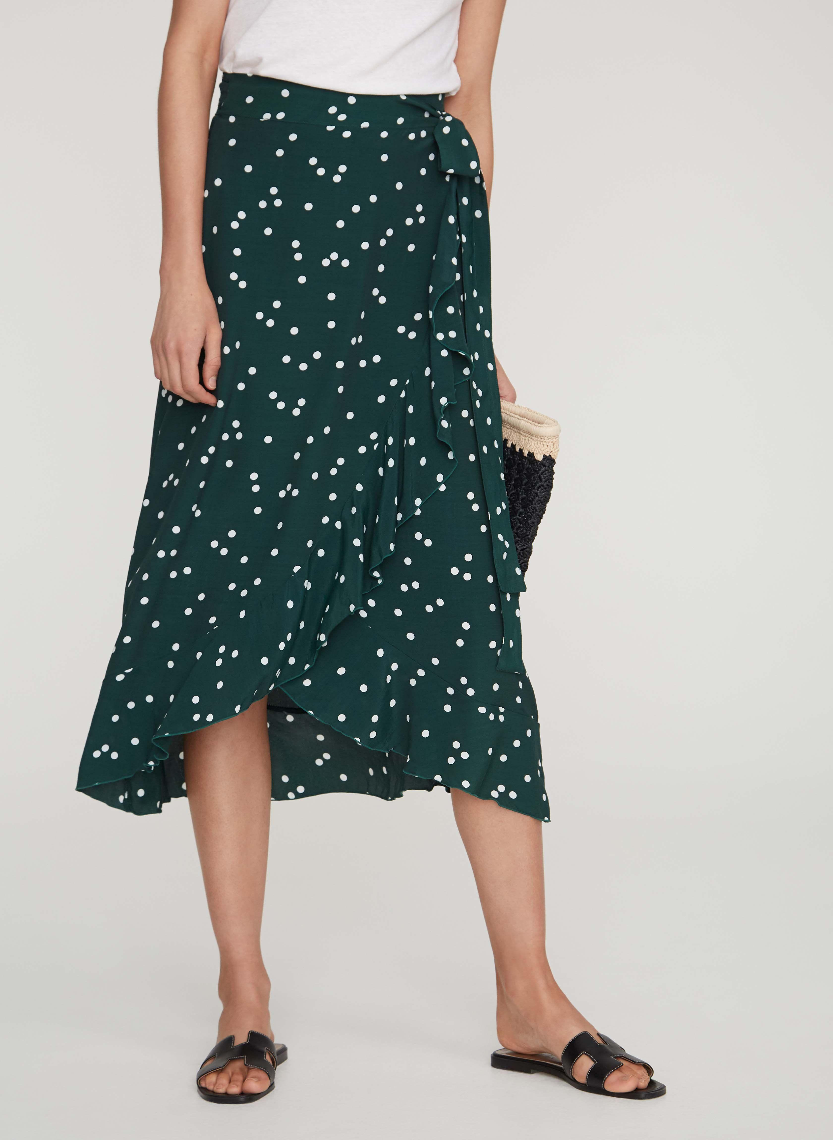 1d1babf029 Linnea dot print - green - celeste wrap skirt in 2019   shopping ...