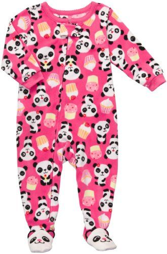 c0ca5033e7 Carter`s Girls Fleece Footed Blanket Sleeper Pajamas - Panda and Cupcakes  for only  16.99 You save   5.01 (23%)