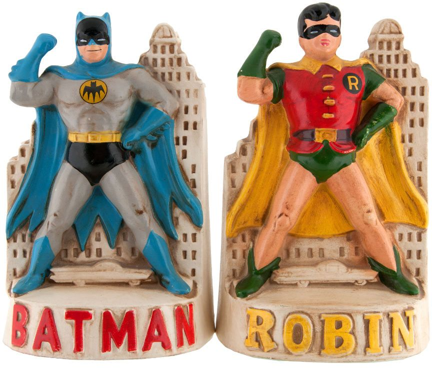 Batman and Robin bookends