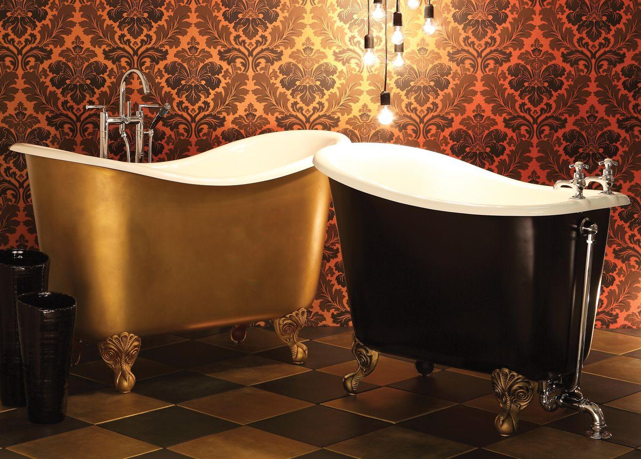 Badkamer met bad op pootjes klassieke schoonheid een badkuip op