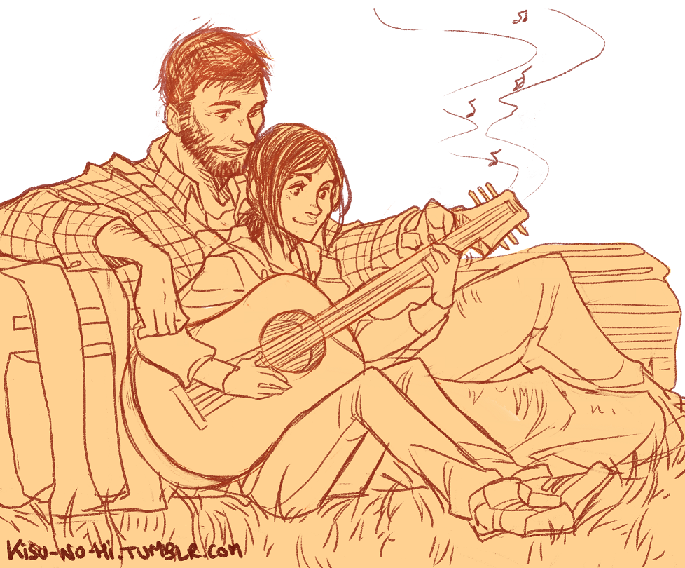 "the last of us - ""after all this, I'll teach you how to play guitar"" from kisu-no-hi.tumblr.com"