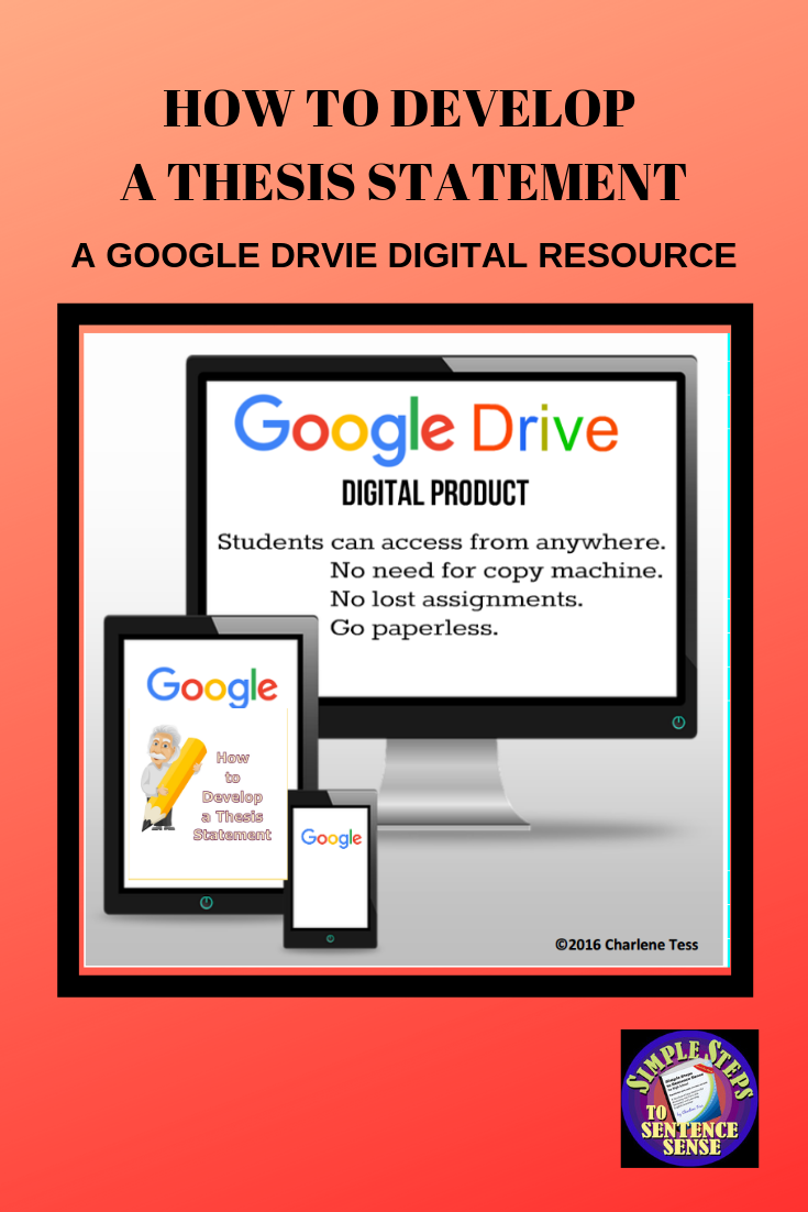 How To Develop A Thesis Statement Google Drive Digital Resource  When Students Write Essays About Literature Often The Most Difficult Thing  Is Getting Started Buy An Essay Paper also Buying A Book Report  Can Someone Write My Literature Review