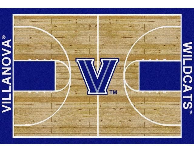 Villanova University Basketball Court Rug #Villanova