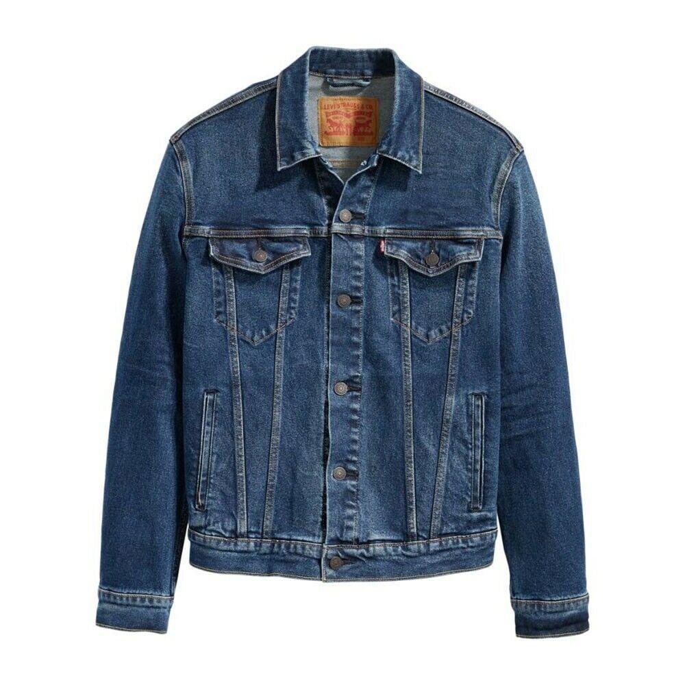 New Levi S Sz 2xl Mens 72334 0224 Dark Blue Button Up Jean Denim Trucker Jacket Levis Jeanjacket Casual Lined Denim Jacket Trucker Jacket Jackets [ 1000 x 1000 Pixel ]