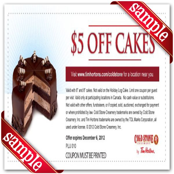 photo about Cold Stone Printable Coupon named November 2013 chocolate cake recipe