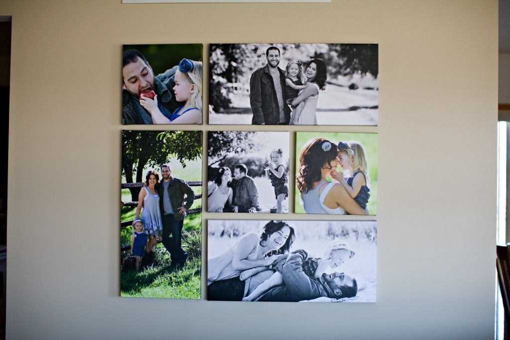 Wall art made with canvas prints of different sizes | For ...