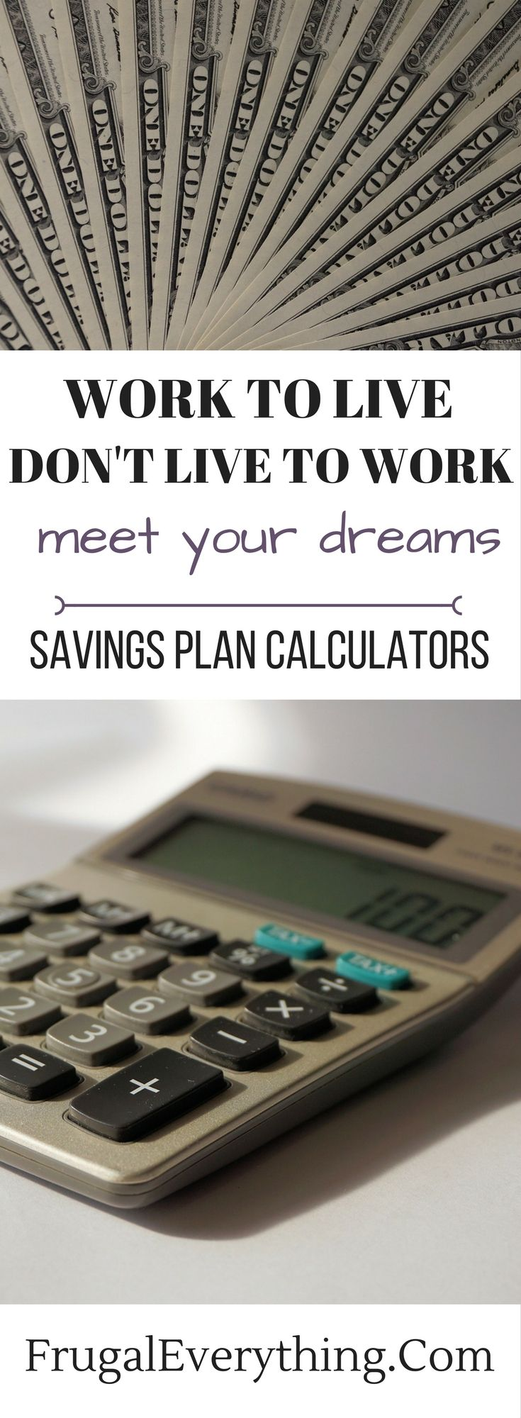 saving plan calculators frugal finance pinterest money