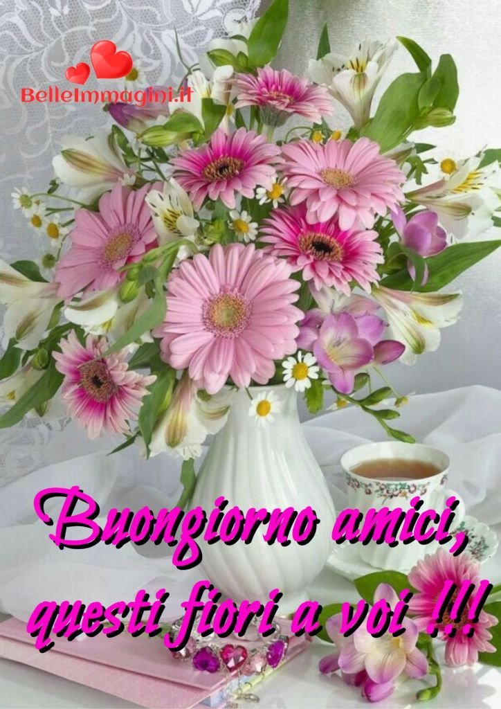 Buongiorno fiori amici belle frasi immagini whatsapp for Immagini belle buongiorno amici