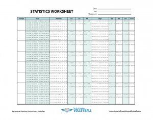 Statistics Worksheet  Coaching Volleyball    Coaching