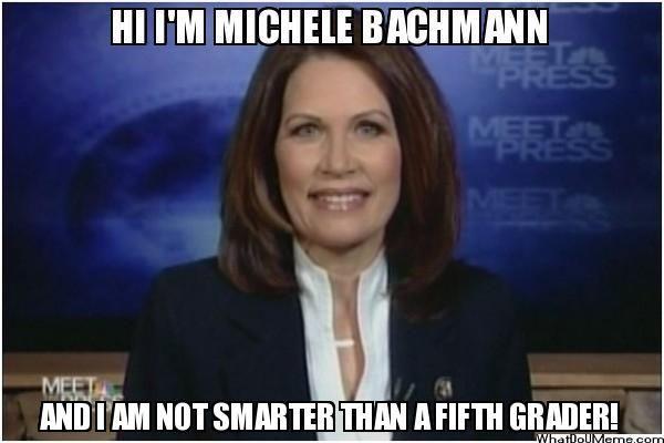 Michelle Bachman Smarter than a 5th grader?