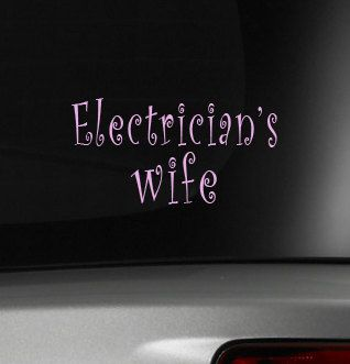 Electrician's Wife Car Decals Vinyl Car by TheVinylDestination, $9.90