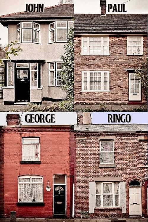 the beatles  houses