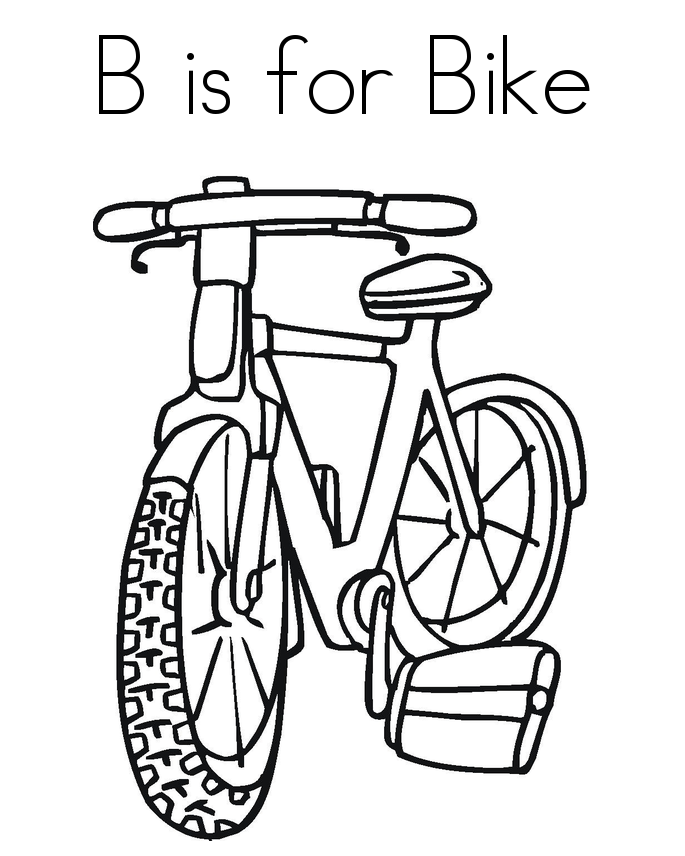 B Is For Bike Coloring Pages