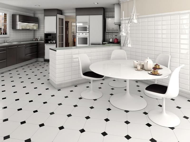 Tile Floor Designs For Kitchens Choose With Consider The Style That We Applied Captivating Black And White Ceramic Design Wit
