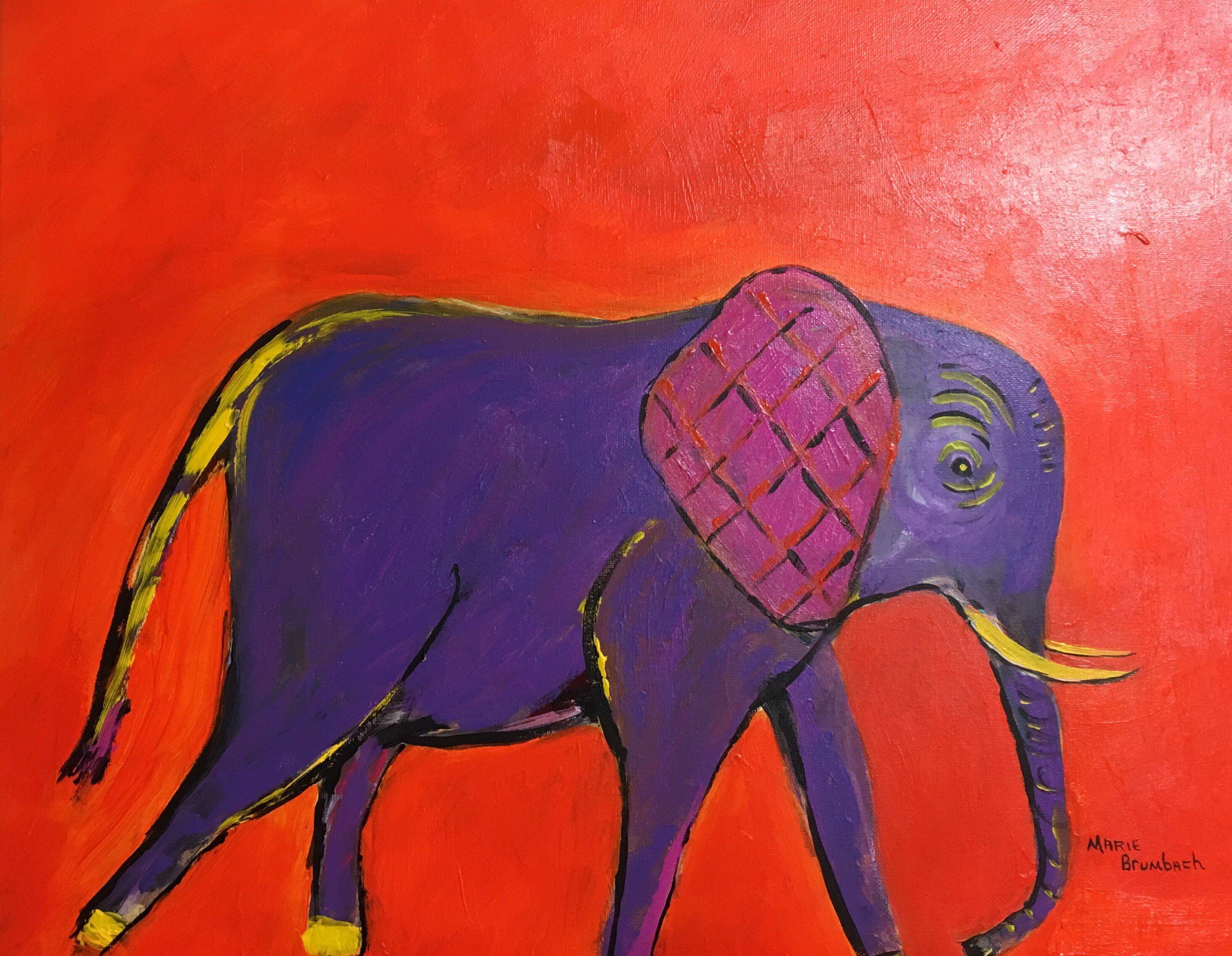Original Baby Elephant Painting On Canvas Colorful Elephant Etsy Elephant Painting Elephant Art Colorful Elephant
