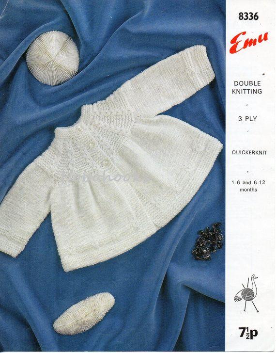 Baby Knitting pattern baby matinee coat , baby matinee jacket ,1- 6 ...