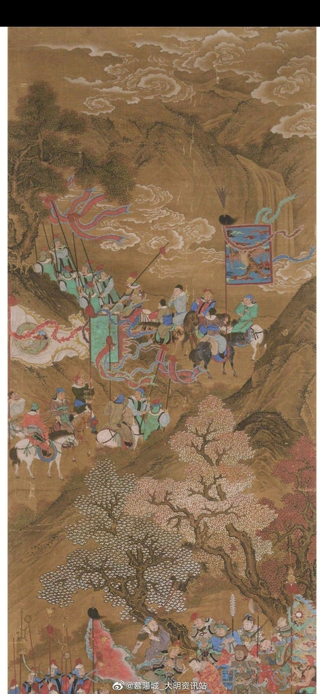 Chinese Ming Dynasty Military Painting In