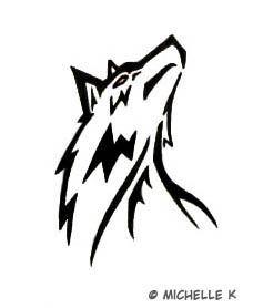 simple black tribal wolf head tattoo design jpg 228 278 tattoo rh pinterest com simple wolf tattoo ideas Simple Geometric Tattoo Wolf