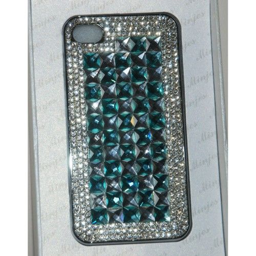 Beautiful silver Diamante I phone 4/4s Crystal Cover/ Mobile Phone #Case Shop here @ http://www.completethelookz.co.uk/new-fashion?page=8
