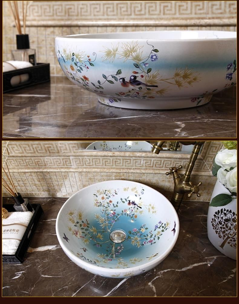 Superior Porcelain China Classic Art Washing Basin Countertop Ceramic Bathroom Sink  Hand Wash Basin Price In Part 4