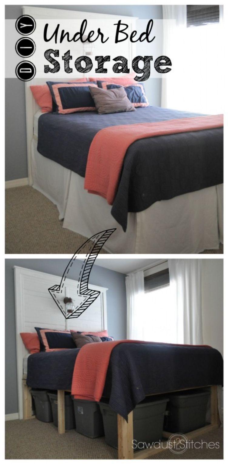 26 Ideas to Maximize a Tiny Bedroom Space | Plataforma, Camas y Patrones