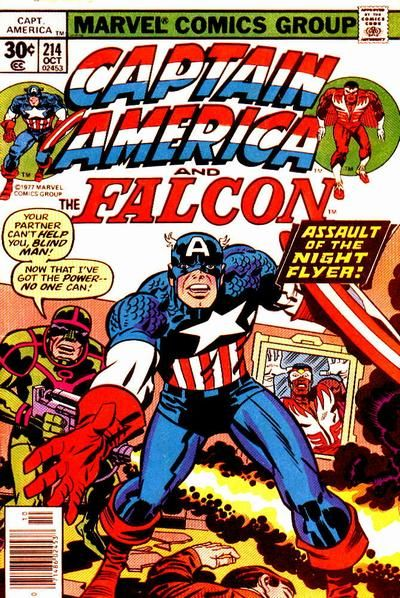 CAPTAIN AMERICA #214  MARVEL COMICS GROUP  OCTOBER 1977  $.30
