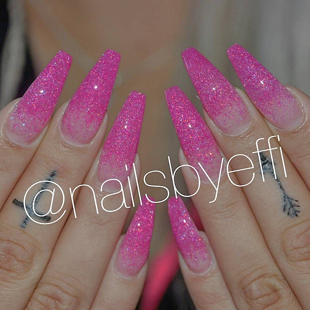 Pink glitter fade nails by @nailsbyeffi | beautiful in your eyes ...