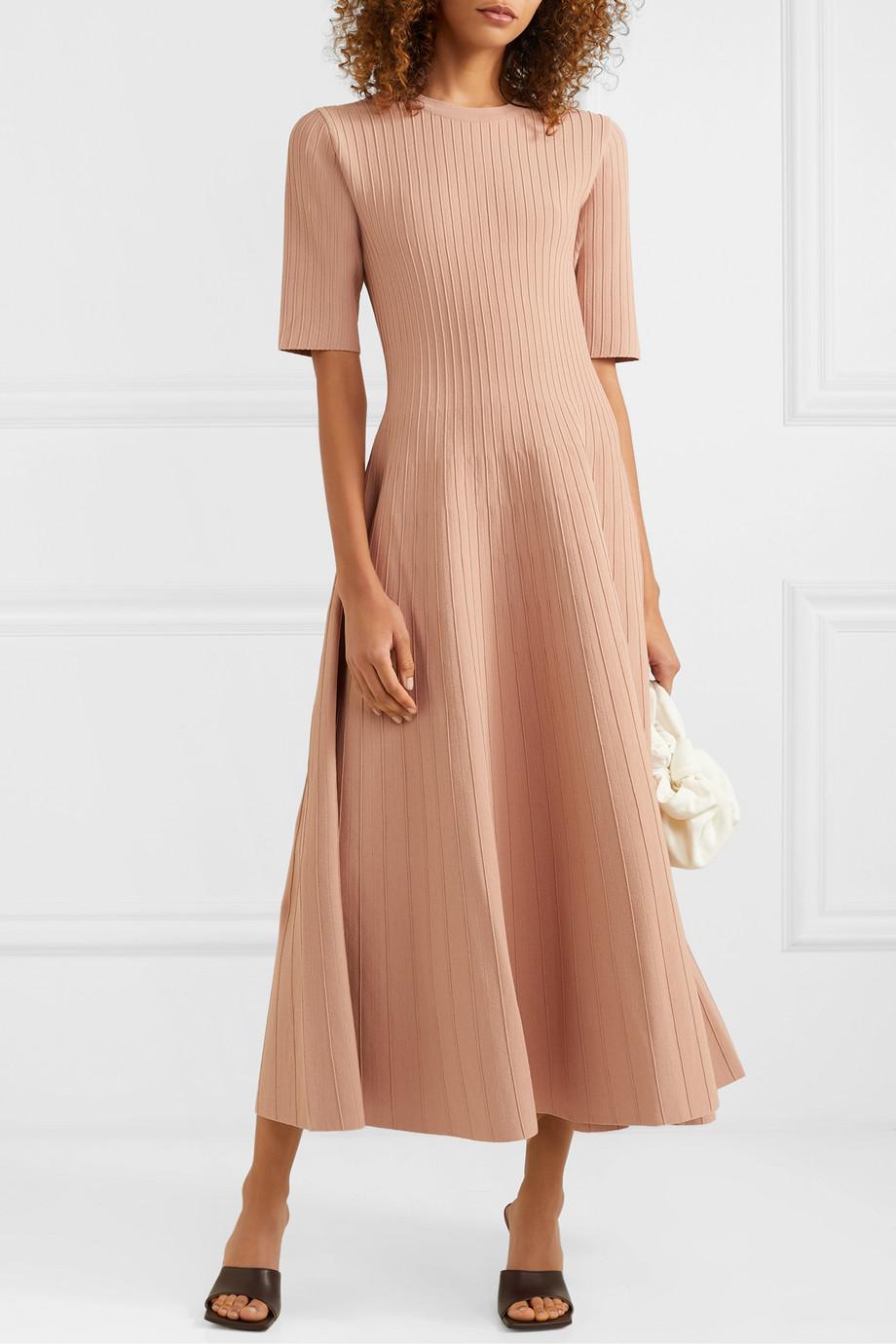 Casasola 1625 Knit Midi Dress Stretch Knit Dress Dresses [ 1380 x 920 Pixel ]