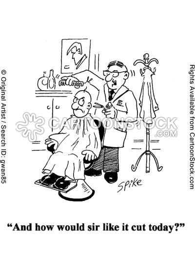 beauty cartoons barber cartoon