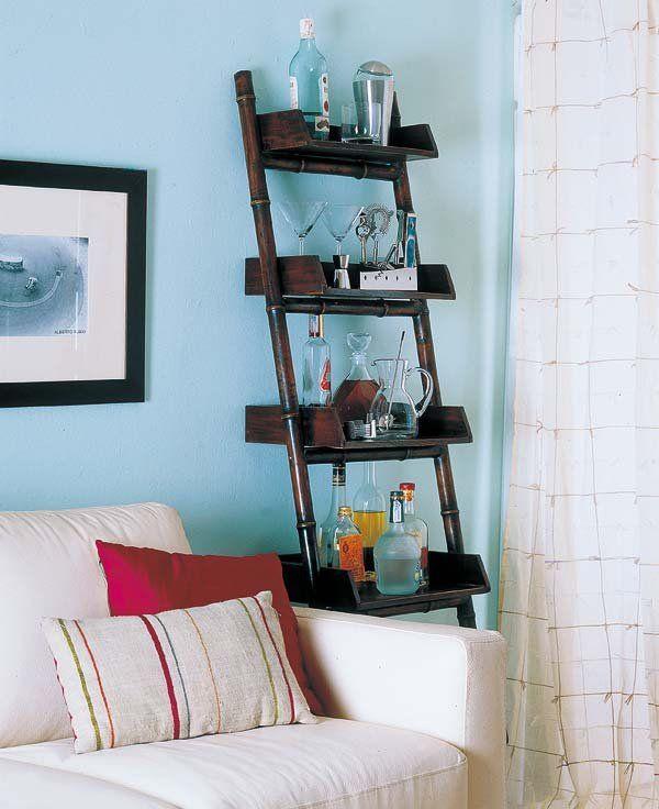 Formas ingeniosas de tener un mueble bar | Mueble bar, Estanterías y ...