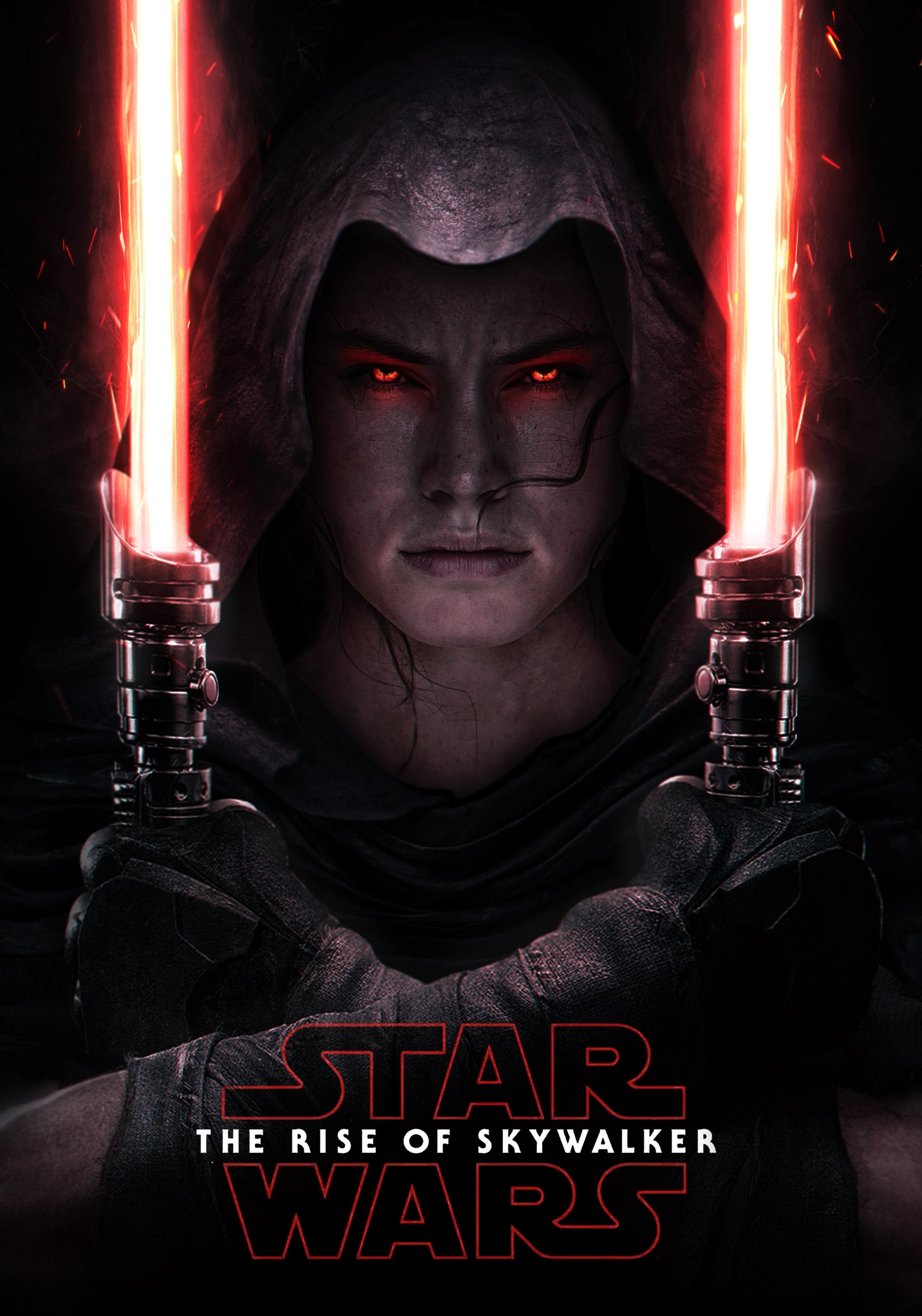I remixed the Star Wars Force Unleashed Poster into Rey
