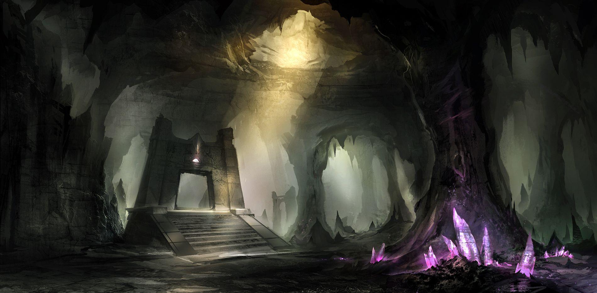 Пещеры фэнтези картинки