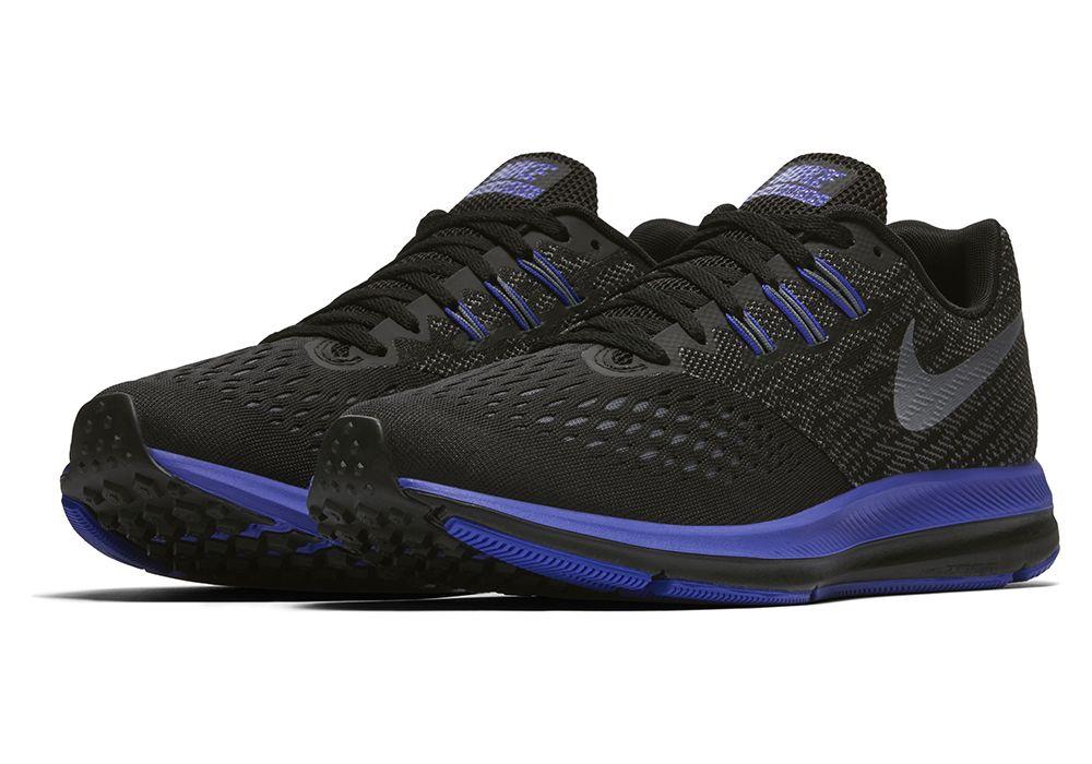 3367b89536d5b Womens Nike Air Zoom Winflo 4 Black Purple
