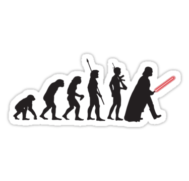 Human Evolution Star Wars Stickers By Shahed Miah Redbubble Pegatinas Bonitas Pegatinas Imprimibles Pegatinas Wallpaper
