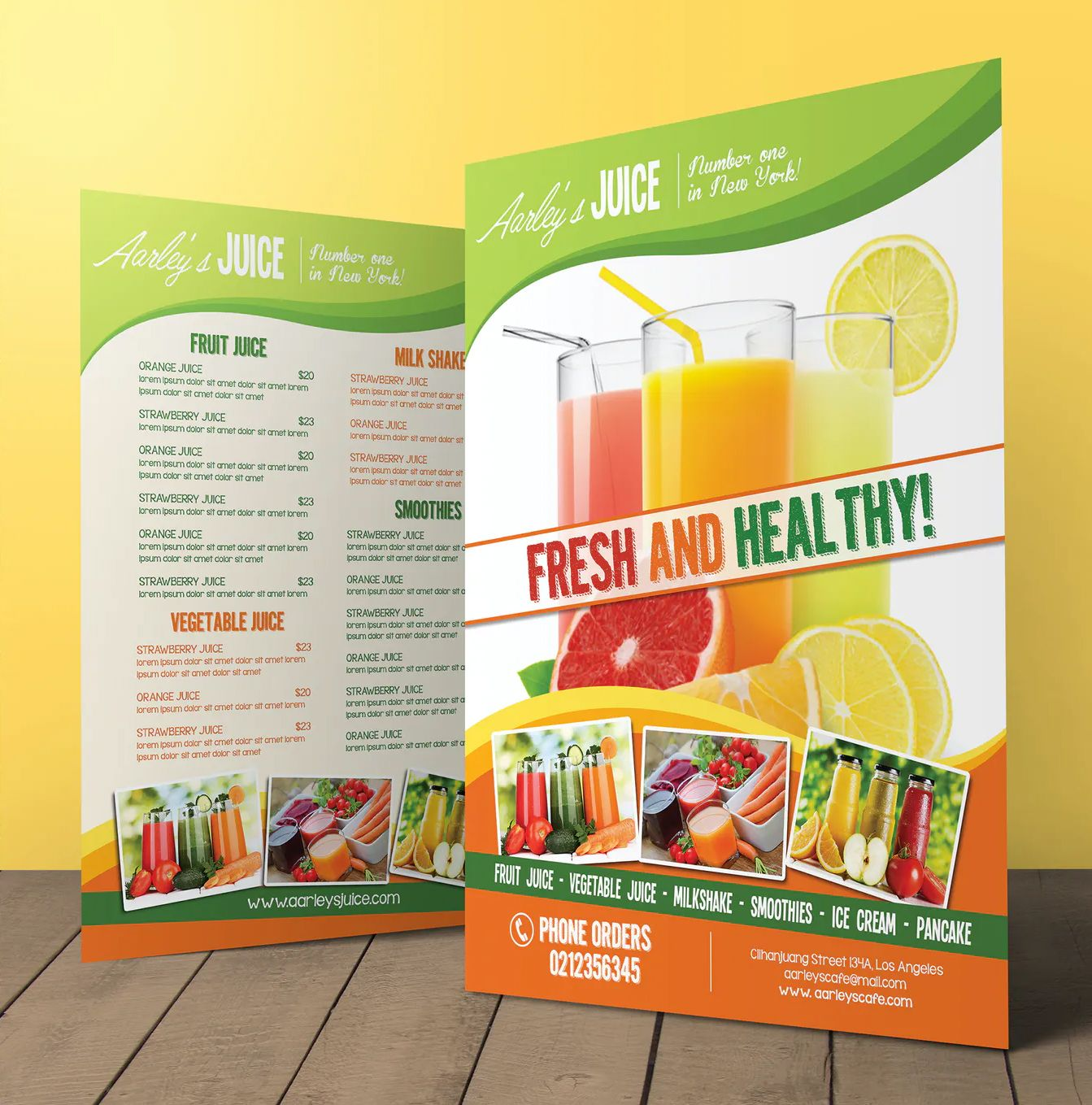 Fruit Juice Menu Flyer Template Psd Juice Menu Menu Flyer Fruit Juice