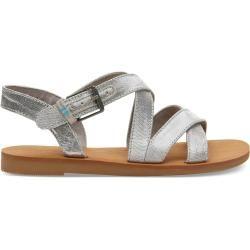 Toms Silber Metallic Sicily Sandalen Für Kinder – Größe 30.5 TomsToms